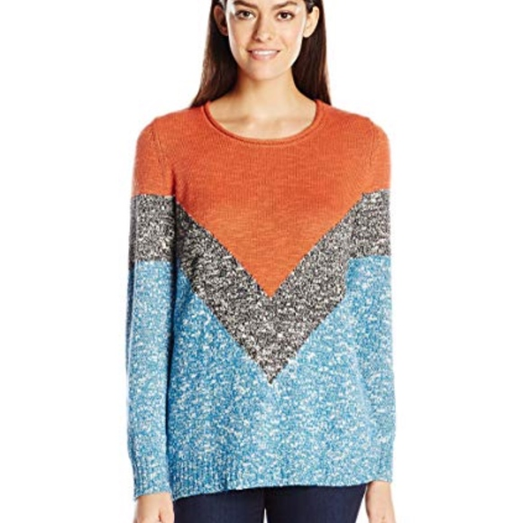 Life Is Good Sweaters - Life is Good Women's Slouchy Marled Chevron 0893